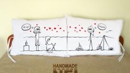 """Калъфки за възглавници за влюбени """"На къмпинг"""""""