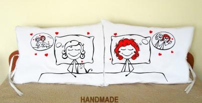 """Калъфки за възглавници за влюбени """"Усмихнати сънища"""""""
