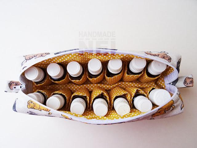 """Голям несесер за етерични масла """"Котенца"""" - Handmade Nel"""
