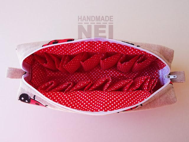 """Голям несесер за етерични масла """"Калинки"""" - Handmade Nel"""