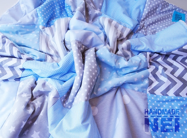 """Пачуърк одеяло с полар за бебе """"Антон"""""""