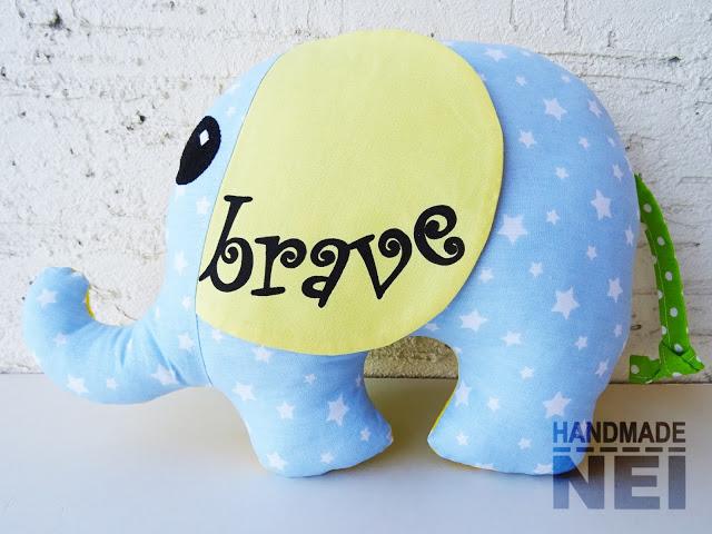 """Играчка слонче """"Brave & Happy"""" - Handmade Nel"""