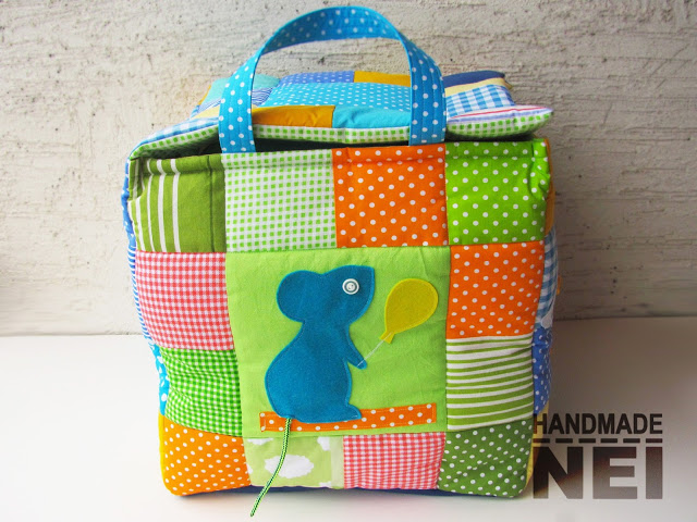 "Кош за играчки от плат ""Алекс"" - Handmade Nel"