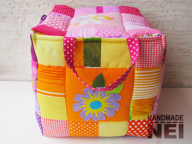 "Кош за играчки от плат ""Александра"" - Handmade Nel"