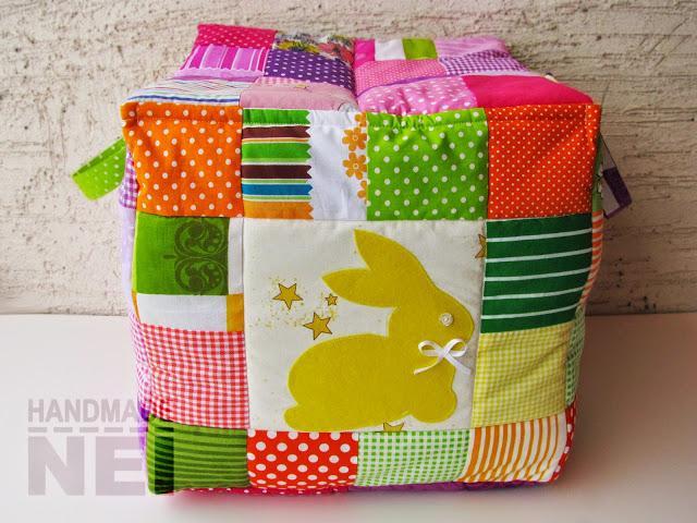"""Кош за играчки от плат """"Алина""""- Handmade Nel"""
