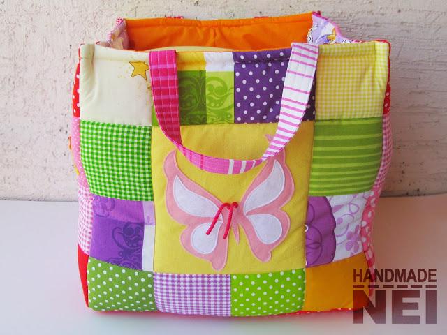 """Кош за играчки от плат """"Алиса"""" - Handmade Nel"""