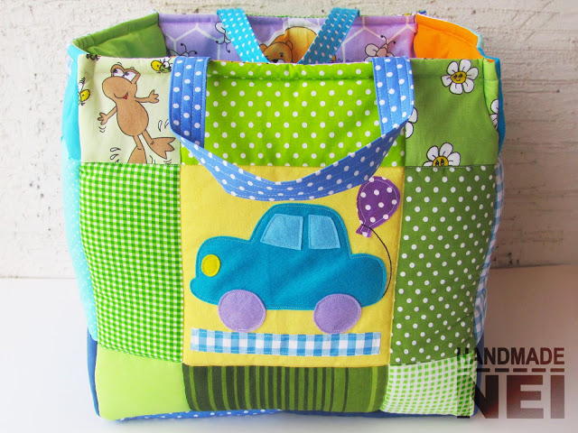 """Кош за играчки от плат """"Митко"""" - Handmade Nel"""
