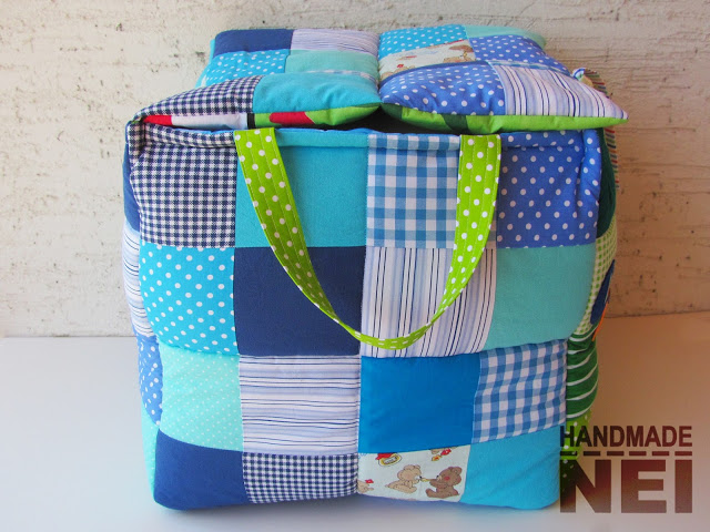 """Кош за играчки от плат """"Самуил"""" - Handmade Nel"""