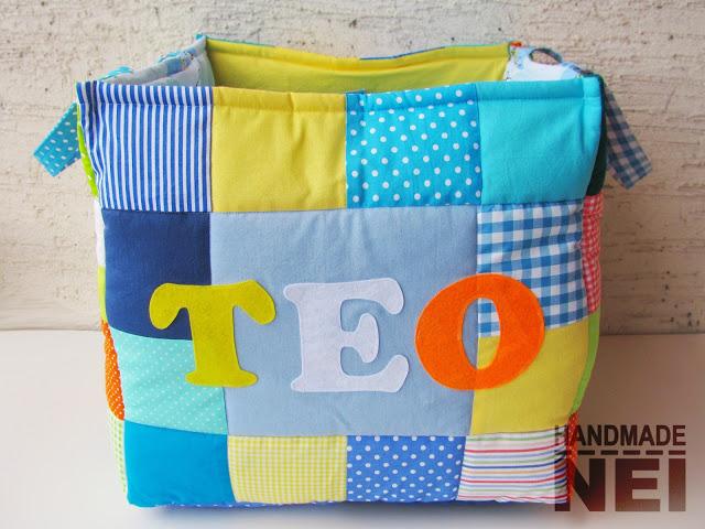 """Кош за играчки от плат """"Тео"""" - Handmade Nel"""