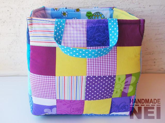 """Кош за играчки от плат """"Тео""""2 - Handmade Nel"""
