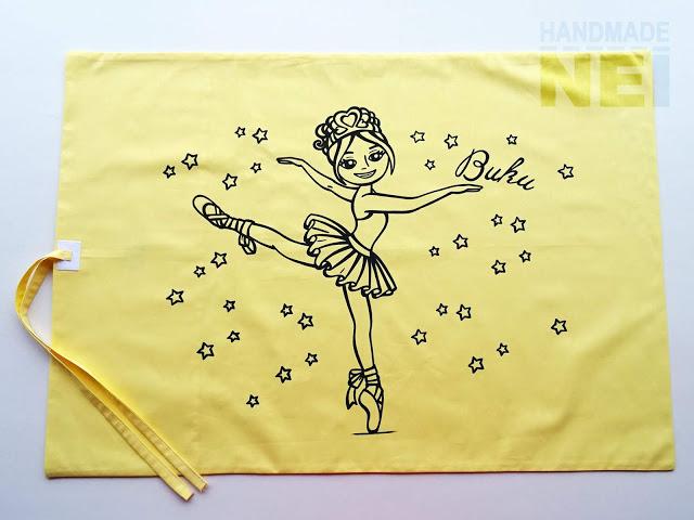 """Рисувана калъфка за възглавница """"Балерина Вики"""" - Handmade Nel"""