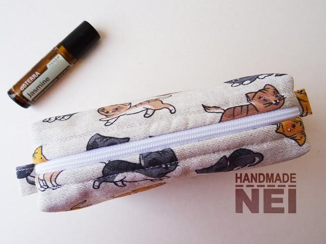 """Среден несесер за етерични ролони """"Котенца"""" - Handmade Nel"""