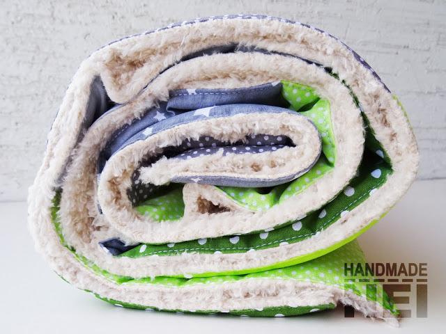 """Пачуърк одеяло с полар за бебе """"Максим"""" - Handmade Nel"""