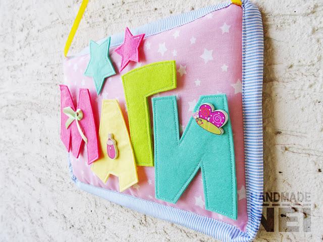 """Табелка за име от плат """"Маги"""" - Handmade Nel"""