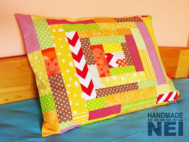 """Пачуърк калъфка за възглавница """"Есен"""" - Handmade Nel"""