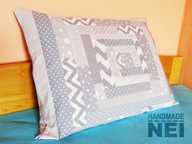 """Пачуърк калъфка за възглавница """"Гълъбово"""" - Handmade Nel"""