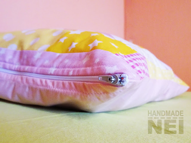 """Пачуърк калъфка за възглавница """"Изгрев"""" - Handmade Nel"""