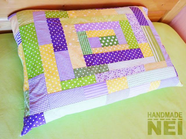 """Пачуърк калъфка за възглавница """"Жизненост"""" - Handmade Nel"""