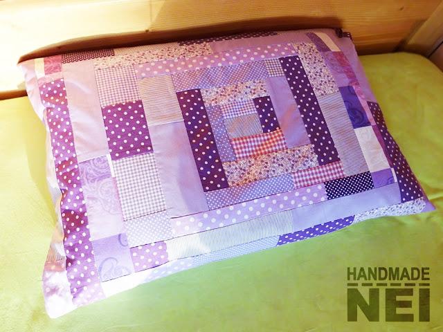 """Пачуърк калъфка за възглавница """"Лавандула"""" - Handmade Nel"""
