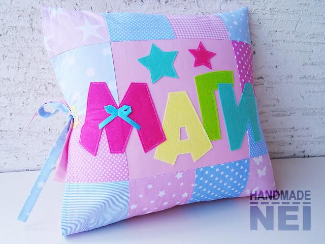 """Пачуърк калъфка за възглавница """"Маги"""" - Handmade Nel"""