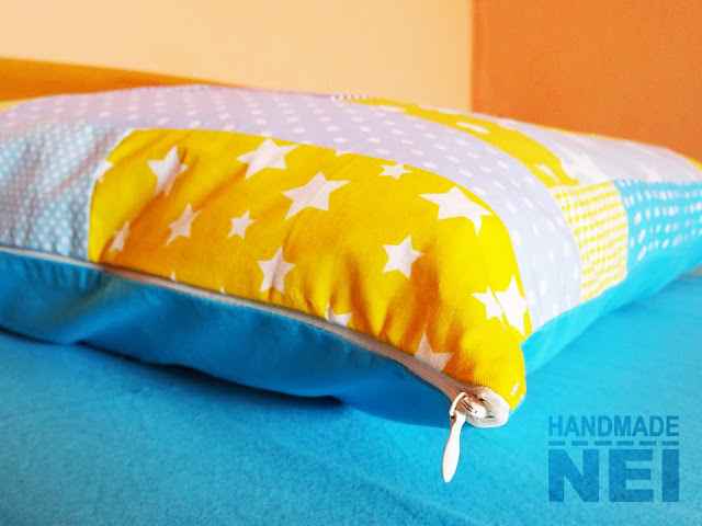 """Пачуърк калъфка за възглавница """"Лято"""" - Handmade Nel"""