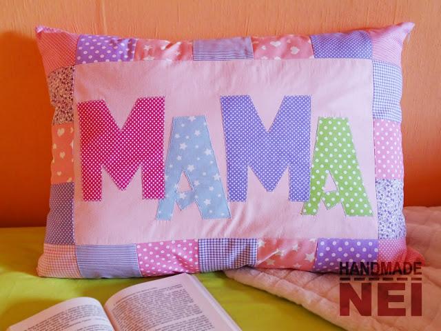 """Пачуърк калъфка за възглавница """"Мама"""" - Handmade Nel"""