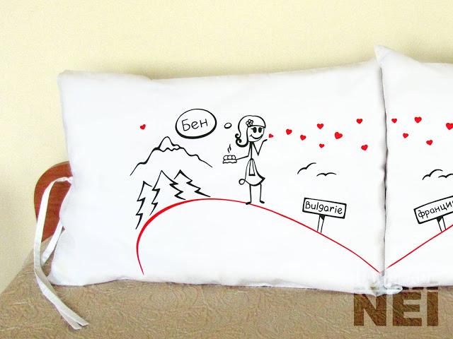 """Калъфки за възглавници за влюбени """"В народните танци"""" - Handmade Nel"""