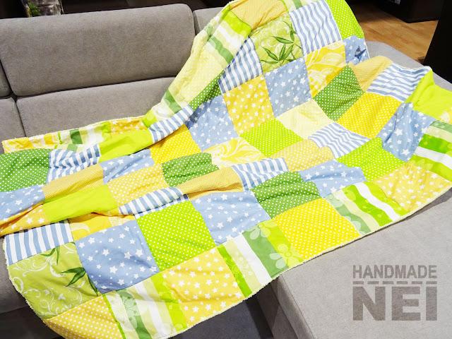 """Пачуърк одеяло с полар """"Мама"""" - Handmade Nel"""