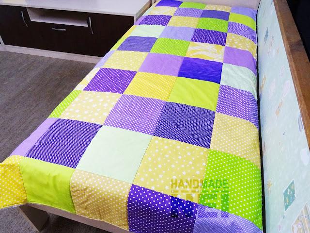 """Пачуърк одеяло с полар """"Никол"""" - Handmade Nel"""