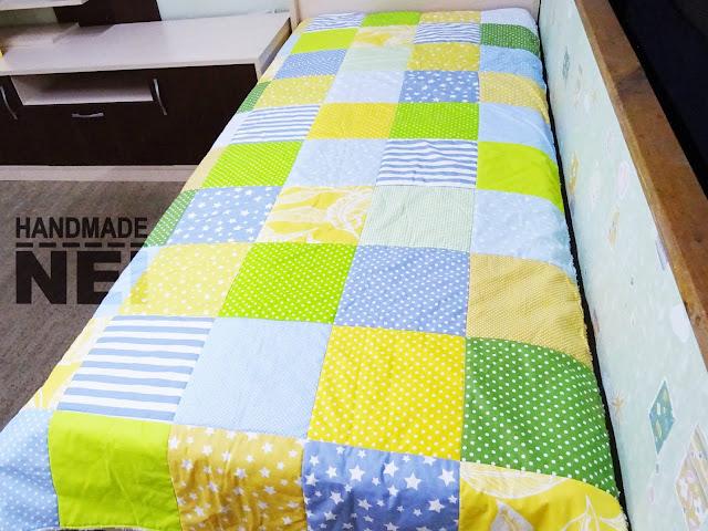 """Пачуърк одеяло с полар """"Виктор"""" - Handmade Nel"""