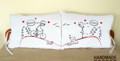 """Калъфки за възглавници за влюбени """"Един към друг"""""""