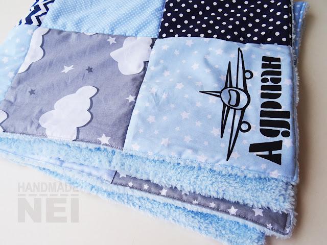 """Пачуърк одеяло с полар за бебе """"Адриан"""" - Handmade Nel"""
