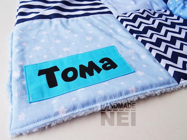 """Пачуърк одеяло с полар за бебе """"Тома"""" - Handmade Nel"""