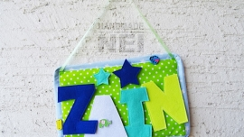 "Табелка за име от плат ""Zain"""