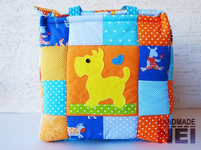 """Кош за играчки от плат """"Адриан"""" - Handmade Nel"""